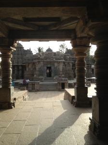With D in the temple doorway
